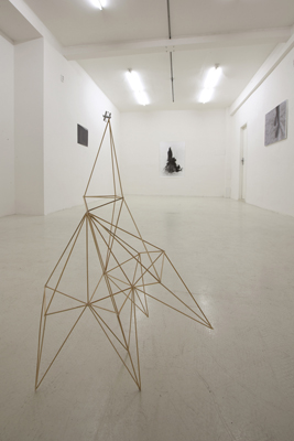 Installation view at gallery Fotograf, Prague, CZ; object by guest artist Pavla Scerankova