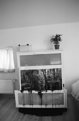 <em>Komoda / Chest of drawers</em>, 2011, black and white photography on paper, 120 x 180 cm